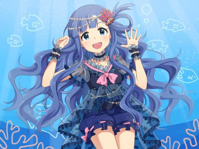 お魚系アイドル、浅利七海ちゃん(デレマス)エロ画像 脚に水がかかると尾びれになりそう-11