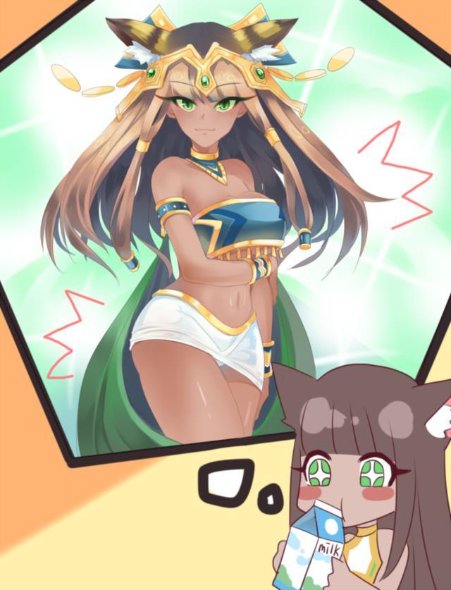 バステトちゃん(バズドラ)のエロ画像まとめ エジプトの神様を褐色ネコ耳幼女にしてしまう日本人の妄想の逞しさよ・・・ part2-8