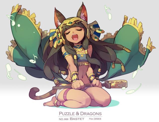 バステトちゃん(バズドラ)のエロ画像まとめ エジプトの神様を褐色ネコ耳幼女にしてしまう日本人の妄想の逞しさよ・・・ part2-1