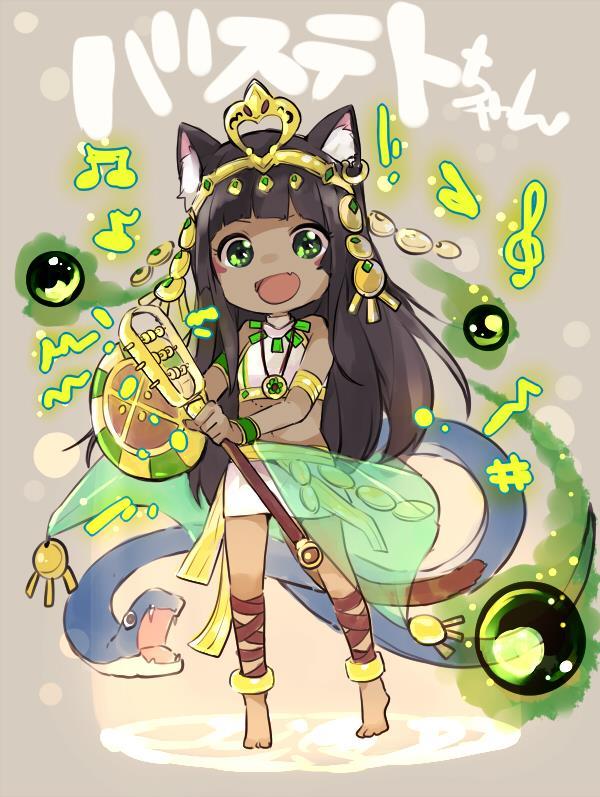 バステトちゃん(バズドラ)のエロ画像まとめ エジプトの神様を褐色ネコ耳幼女にしてしまう日本人の妄想の逞しさよ・・・ part2-42