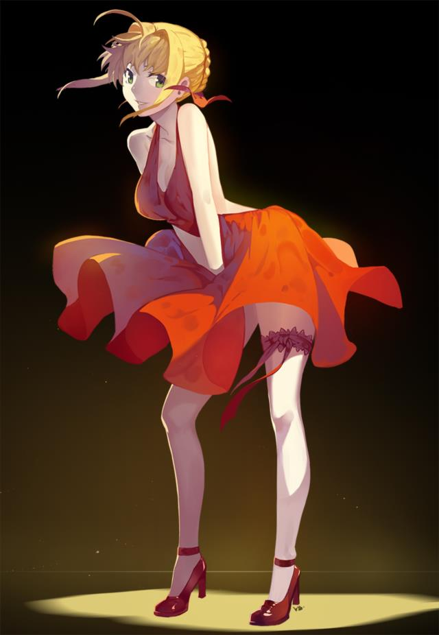 赤セイバー(Fateシリーズ)のエロ画像まとめ Fate/EXTRA面白そうwww part2-28