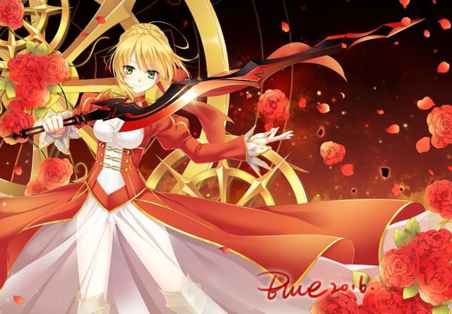 赤セイバー(Fateシリーズ)のエロ画像まとめ Fate/EXTRA面白そうwww part3-10
