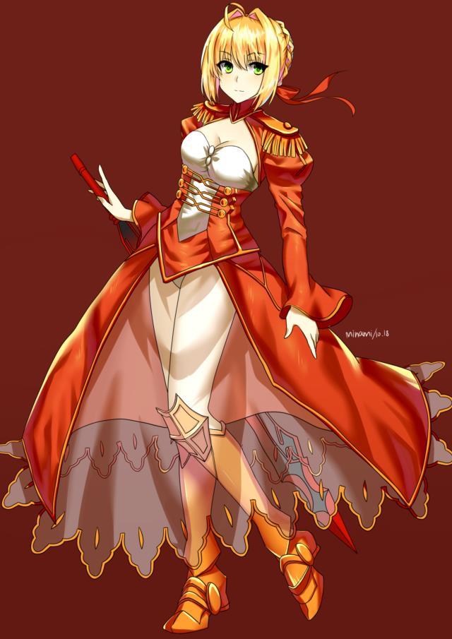 赤セイバー(Fateシリーズ)のエロ画像まとめ Fate/EXTRA面白そうwww part3-9